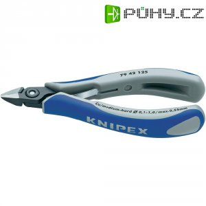 Stranové štípací kleště přesné Knipex 79 42 125, se špičatou hlavou bez fazety