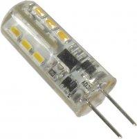 Žárovka LED G4 teplá bílá, 12V/1,6W, 24x SMD3014, silikonový obal