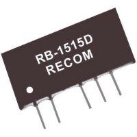 DC/DC měnič Recom RB-1505D (10001844), vstup 15 V/DC, výstup ±5 V/DC, ±100 mA, 1 W
