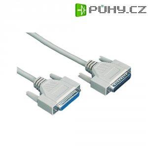 Sériový paralelní prodlužovací kabel, D-SUB zástrčka ⇔ D-SUB zásuvka, šedá, 4,5 m