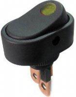 Vypínač kolébkový ON-OFF 1pol.12V/20A,žlutý