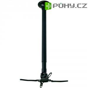 Stropní držák projektoru, otočný o 360 °, nosnost 12 kg, černý