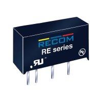 DC/DC měnič Recom RE-0512S, vstup 5 V/DC, výstup 12 V/DC, 83 mA, 1 W