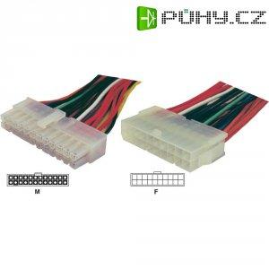 Napájecí kabel základní desky Goobay, 1x ATX zástrčka 24pól.⇔1x ATX zásuvka 20pól., 0,15 m