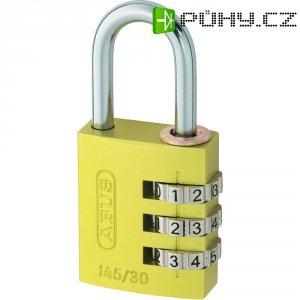 Visací zámek s číselnou kombinací Abus 145/30, žlutá