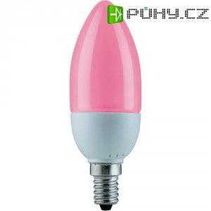 Úsporná žárovka svíčka Paulmann E14, 5 W, červená