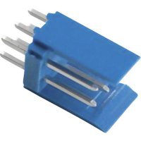 Kolíková lišta HE14 TE Connectivity 281739-4, přímá, 2,54 mm, 3 A, modrá