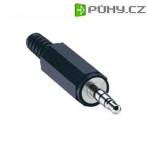Konektor jack 3,5 mm Lumberg 1532 02, zástrčka rovná, 4pól./stereo, černá