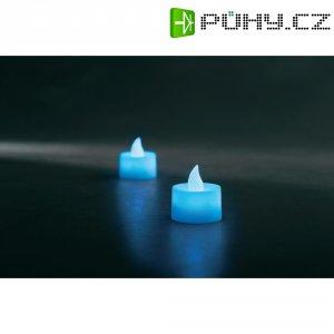 Čajová LED svíčka Konstsmide, 1987-400, 2 ks, modrá
