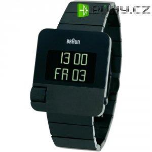 Digitální náramkové hodinky Braun Prestige, pásek z nerezové oceli, černá