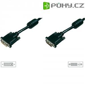 Kabel DVI vidlice ⇔ zásuvka, 24+1 pin, 1,8 m, černý