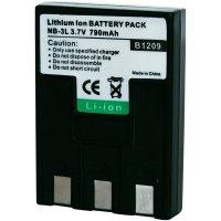Li-Ion akumulátor pro videokameru CANON NB-3L, 3,7 V, 650 mAh, černá