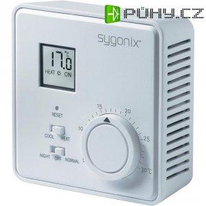 Pokojový termostat s LCD Sygonix tx.2 33988Q, 5 až 30 °C, bílá