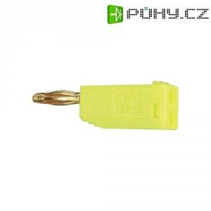 Lamelový konektor Ø 2 mm MultiContact 22.2615-24, zástrčka rovná, žlutá