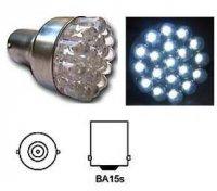 Žárovka LED-19x Ba15S 12V bílá