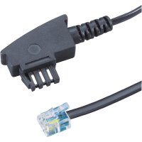 TAE, RJ11 fax kabel 922671, 6 m, černá