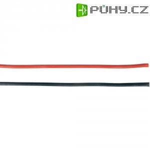 Pružný silikonový kabel, 1 m, 2x 4,0 mm²