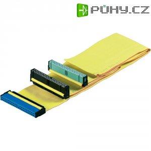IDE kabel, IDE zásuvka ⇔ 2x IDE zásuvka, žlutá, 0,6 m