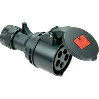 CEE zásuvka na kabel Twist 215-6ttx PCE, 16 A, IP44, černá