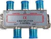 Rozbočovač IN/4x OUT 5-2400 MHz CE s F konektory