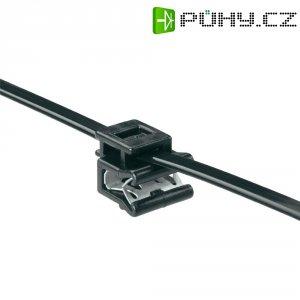 Stahovací pásek se soklem EdgeClip HellermannTyton T50ROSEC5A-MC5-BK-D1, 200 x 4,6 mm