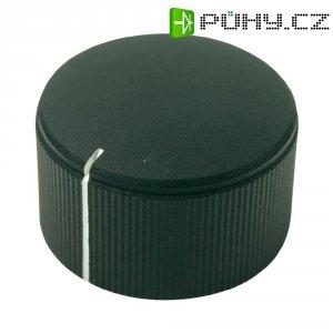 Otočný knoflík Cliff FC7255, pro sérii KMK25, 6 mm, s drážkováním, černá