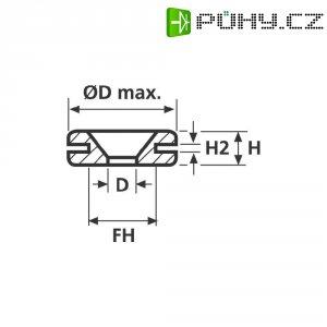 Průchodka HellermannTyton HV1401-PVC-BK-M1 (633-04010), 4,8 x 0,8 mm, černá