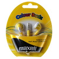 Sluchátka Maxell 303363 Colour Budz Gold