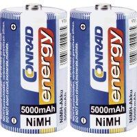 Akumulátor Conrad energy, NiMH, D, 5000 mAh, 2 ks