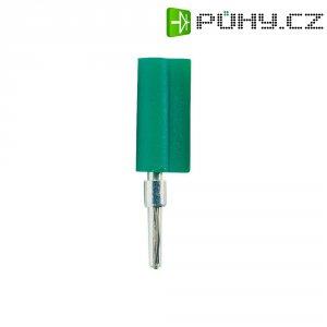 Banánkový konektor Schnepp, zástrčka, rovná, Ø pin: 2 mm, F 2020, zelená