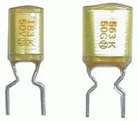 Kondenzátor svitkový 56N/100V rm5 C