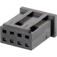 Pouzdro MOD II TE Connectivity 280366, zásuvka rovná, 2,54 mm, černé