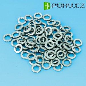 Pružinové kroužky TOOLCRAFT D127, DIN 127, M2.5, Ø: 2,6 mm/5,1 mm, 100 ks