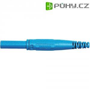 Laboratorní konektor Ø 4 mm MultiContact 66.9155-23, zásuvka rovná, modrá