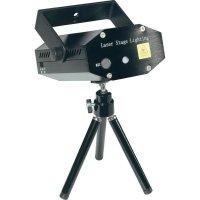 Laserový efekt Mc Crypt Mini Star Laser, GLP07, 230 V, červená/zelená