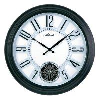 Analogové designové nástěnné hodiny 4442, Ø 46 cm, černá/bílá