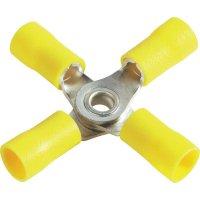 Křížové oko Průměr otvoru 4 mm částečná izolace žlutá Vogt Verbindungstechnik 3655a4 1 ks