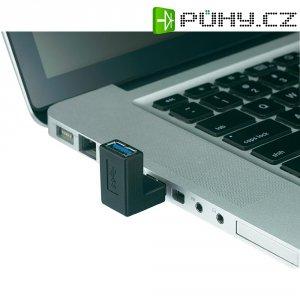 Adaptér USB 3.0, úhlový, zahnutí nahoru, černý