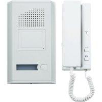 Domácí telefon, 611761, 1 rodina, bílá/hliník