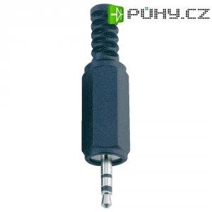 Jack konektor 2,5 mm BKL Electronic 1107002, zástrčka rovná, 2pól./mono, černá