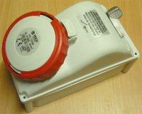 Zásuvka 230/400V/16A 5kolík FANTON 73345 s vypínačem, IP67, DOPRODEJ