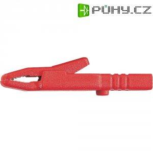 Laboratorní snímací svorka SKSHirschmann AK 2 S, 60 V, 25 A , červená