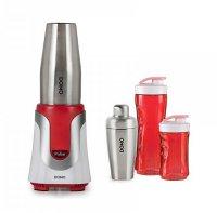 Mixér stolní Smoothie - červený - DOMO DO449BL + koktejl shaker