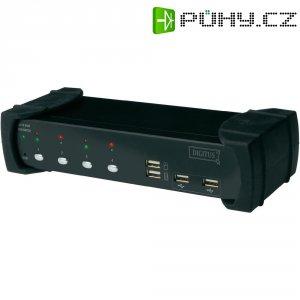 Přepínač DVI, audio, USB KVM Digitus, 4 porty