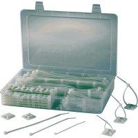 Sada stahovacích pásek a samolepicích soklů, EPR-350, transparentní, 350 ks
