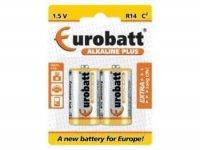 Baterie LR14-BP2 EUROBATT Alkalická, balení 2ks