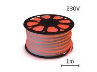 LED neon flexi hadice 230V 92LED/m 7W/m červená (1m)
