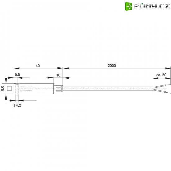 Termočlánek Enda K10-Pt100, podle DIN EN60751, -50 až 400 °C, délka kabelu 2 m - Kliknutím na obrázek zavřete