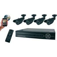 Kamerový systém s digitálním rekordérem Flamingo, FA420DVR, 4kanálový, 420 TVL