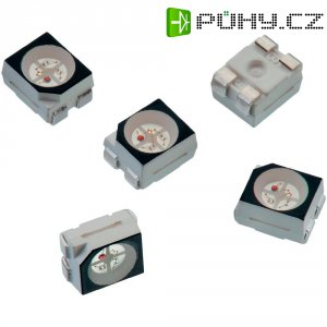 SMD LED Würth Elektronik, 150141M173100, 30 mA, 2 V, 120 °, 270 mcd, červená/zelená/modrá